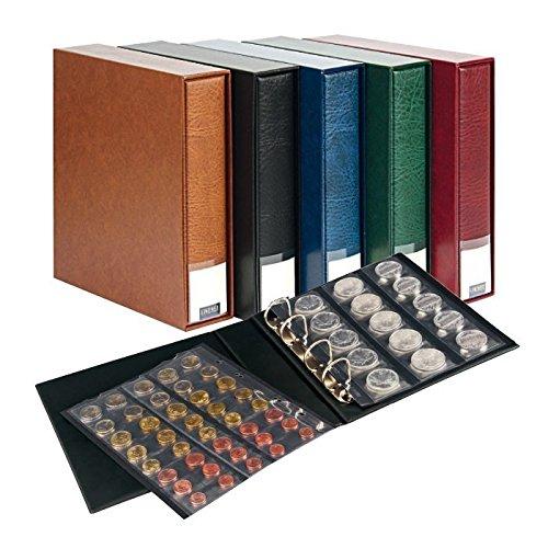 Album numismatique PUBLICA M [Lindner 3532M] avec 10 Feuilles numismatiques, Couleur: Noir