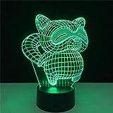Werewtr 3D Night LightLampada Da Tavolo A Led A Luce Notturna Per IlluminazioneNotturna A Led A Forma Di Gatto CatarifrangentePer La Decorazione Domestica