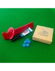 Billard, pointe de serrage et Bison Super Kit de valeur Colle en velours bleu