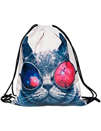 SLB Works Unisex Backpacks Bags Drawstring Rucksacks Schoolbag For Young Men & Women N3X0