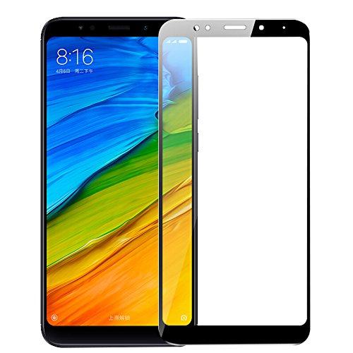 SMARTrich - Protector de pantalla para Xiaomi Redmi 5 Plus (dureza 9H, antiarañazos, ultra transparente, antihuellas) negro negro 8*4cm