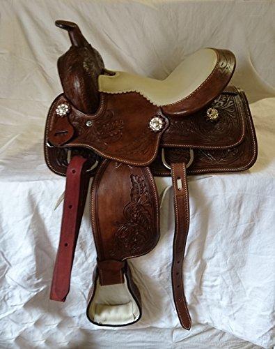 """Esposita Westernsattel Set \""""Texas Kids\"""" für Shetty und Pony, echtes Leder 10\"""""""