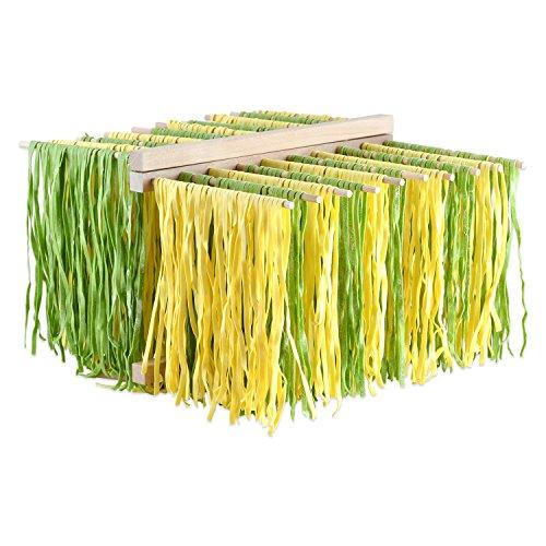 Nudeltrockner - Pasta Ständer aus Buchenholz XL (Wie Man Spaghetti)