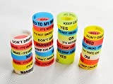 30 pcs Silikon Vape Bands 21 mm Glow in the Dark