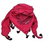 Alpenflüstern Dreiecks-Trachtentuch Hirsch pink-fuchsia ATX026