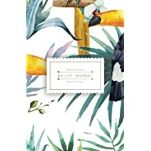 Bullet Journal Beyond the Soul: Tropical Bird Journal - 130 Dot Grid Pages - High Inspiring Creative Design Idea