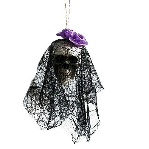 Katze Machen Hause Sie Zu Kostüm - YWLINK Halloween Skelett Braut TräGt Einen Schleier HäNgende Dekoration,Haunted House,Bar,Hausgarten,Speichern Horrordekoration(H,36cm)