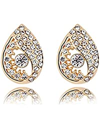 Young & Forever Mothers Day Gifts Timeless Treasure Eternal Light Clear Teardrop Stud Earrings For Women And Girls...