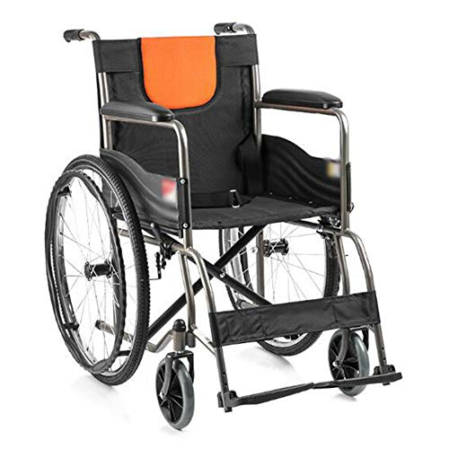 HFJKD Hinten Faltbar Rollstuhl,Ergonomischer Sitz Und Rücken,Fußpedal Mit DREI Geschwindigkeiten, Armlehne, Sicherheitsgurt,Rollstühle Für Ältere Menschen 806 Oxford