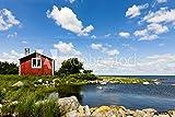 druck-shop24 Wunschmotiv: Rotes Haus ion Schweden