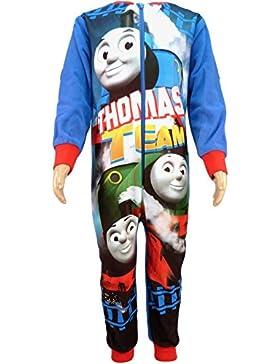 Thomas die kleine Lokomotive Einteiler Thomas Fleece-Schlafanzug, Einheitsgröße, für Jungen im Alter von 18Monaten...