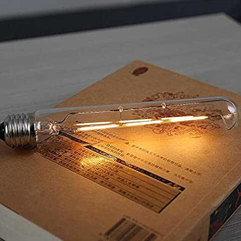 fsliving Vintage Lampadina 40W/G80, filamento in tungsteno Straight Wire Stile