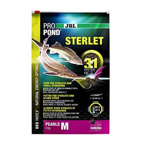 JBL Futter für Sterlets und kleine Störe, Sinkende Futterperlen, Spezialfutter, ProPond Sterlet, Größe M, 3,0 kg - 2
