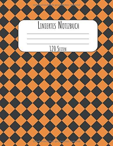 120 Seiten: A4 Tagebuch I Kladde I Schreibheft I Notizblock für Halloween Liniert mit Softcover und schönem karierten Cover ()