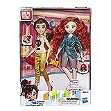 Disney Prinzessinnen Comfy Squad Belle und Merida, Puppen zum Film Chaos im Netz mit Freizeit-Outfit...