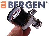 BERGEN profesional HVLP-pistola con regulador - 1,4 mm y 2,0 mm boquilla - 1000 ml vasos - BER8753