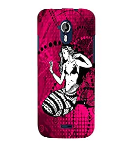 Fuson Fish Girl Back Case Cover for MICROMAX A117 CANVAS MAGNUS - D3766