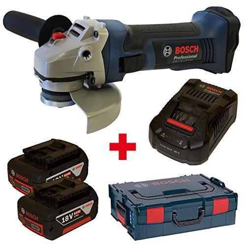 Preisvergleich Produktbild Bosch Akku-Winkelschleifer GWS 18-125 V-LI mit 2x 18,0V 6,0Ah Akkus und Ladegerät GAL3680CV in L-Boxx Gr. 2/136