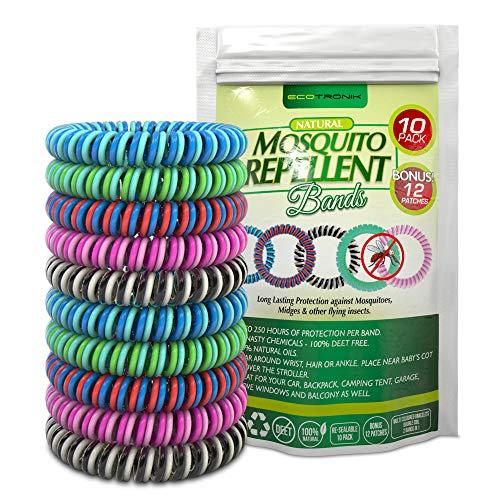 Mückenschutz-Armband, zweifarbige, insektenabweisend Armbänder, geeignet für alle (Kinder wie Erwachsene), für Schutz im Innen- und Außenbereich und auf Reisen, 15 Stück in verschiedenen Farben