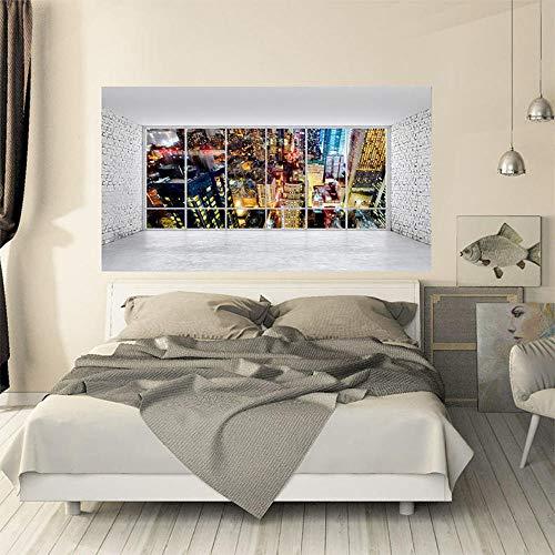 Kreative Wandaufkleber Große 3D Stereo Blick Auf Die Stadt Landschaft Kopfenden Sofa Hintergrund Persönlichkeit Wohnkultur Wandbild