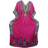 Mogul Interior Kaftan Tribal Print Kimono Sleeves Resort Wear Caftan