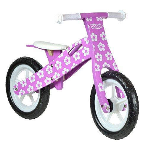 Vélo en Bois boppi pour développer l'équilibre de 2 à 5 Ans Fleur Mauve