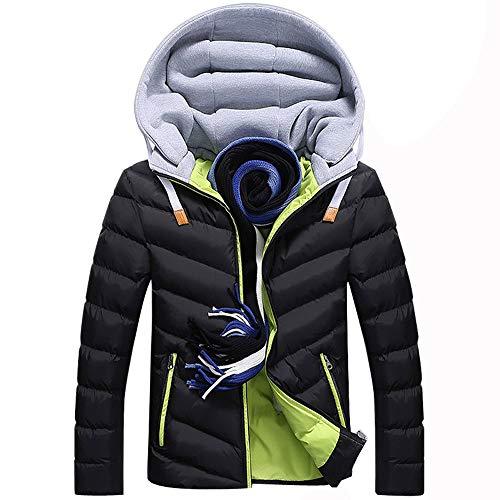 Herren Wärmejacke Parka Jacke Winterjacke Kapuze Übergangsjacke Kapuzenparka Jacket Mantel Wintermantel Mens Winter Coat Gefüttert -