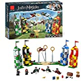 Harry Potter Quidditch Match Building Set, Grifondoro Slyther Raven Crawford E Torre di Hufflepach, Harry Potter Toy Gifts