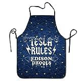Fs2A1X Tesla Rules Edison Drools Kitchen Cooking BBQ Apron