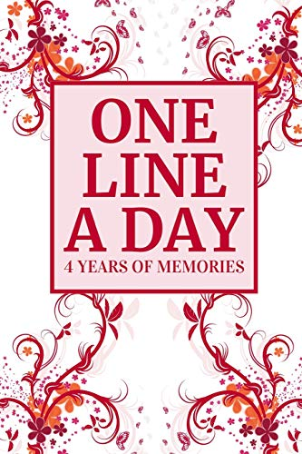 One Line A Day: Four Years of Memories, Dated and Lined Book ~ Red Modern Floral Design (Panda Teen Kostüm)