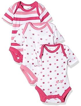 Twins Baby Mädchen kurzarm Body im 3er Pack