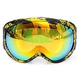MXBIN Unisex Anti Fog UV Dual Lens Winter Racing Outdooors Snowboard Occhiali da sci Sun Glassess CRG98-5A Nuova decorazione dei pezzi di ricambio