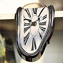 WANGZZZ Realistic Melt Twisted Reloj de Pared Surrealista Salvador Dali Style Reloj de Pared Increíble Regalo