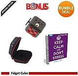 Faites attention dAnxiété Cube jouet avec eBook CAS BONUS inclus (Anglais) - soulage le stress et lanxiété et vous détendre pour enfants et adultes