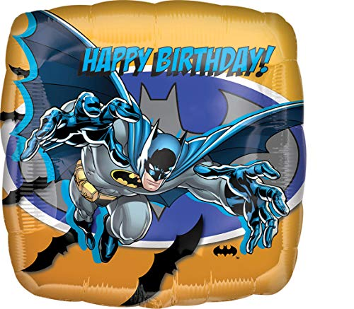 amscan 17752 01 Folienballon Batman Happy Birthday, Mehrfarbig -