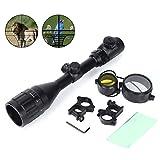 Donnagelia 3–9x 50EG rifle Scopes illuminato rosso & verde DOT sight Optics pistola con lente di 20mm e supporto per caccia, 3-9x50AOEG