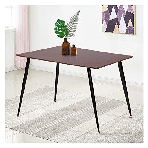 CLIPOP Rechteck Esstisch Küchentisch Holztisch Esszimmermöbel für 4-6 Sitzer mit schwarzen Tischbeinen aus Metall Modernes Design Heimbüro 120x80x76CM, MDF (Natur-B)