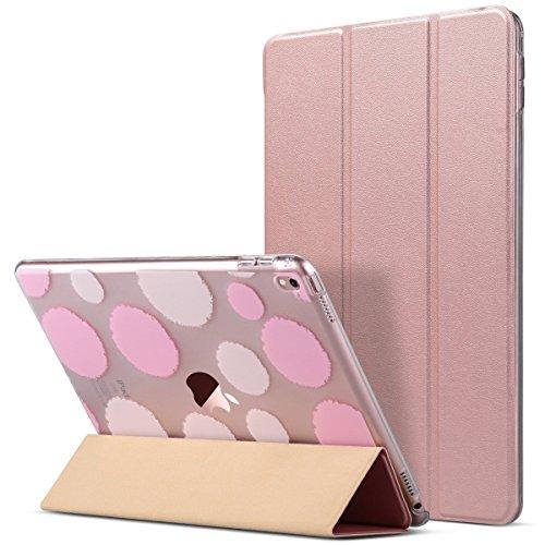 Cover iPad Pro 9.7 - ULAK Apple iPad Pro 9.7 Custodia Smart Cover Auto / sonno Fold Caso Ultra Sottile e Leggera con Supporto per Apple iPad Pro 9.7 pollice 2016 Release Tablet - Rose Gold