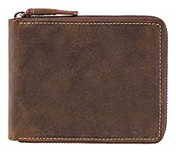 Visconti Hunter Bi-Fold Oil Tan Genuine Leather Wallet For Men With RFID Protection