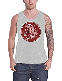 All Time Low USA Logo future hearts Distressed officiel Homme nouveau Gris Tricot de Corps Top