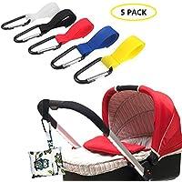 i-Sure - Ganchos para cochecito de bebé, ganchos para cochecito de bebé, ganchos para silla de paseo (5 unidades)