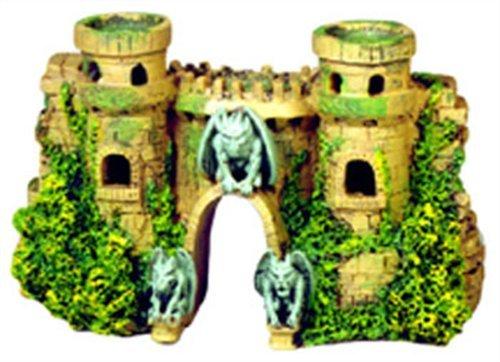 Blue Ribbon Exotic Environments Schloss, Festung mit Wasserspeiern, 10-Inch by 3-1/2-Inch by 5-1/2-Inch