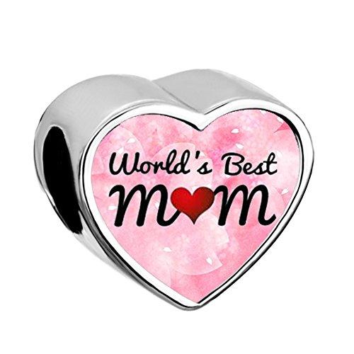 Uniqueen - ciondolo a forma di cuore per la festa della mamma e base metal, cod. uq_bphg4589