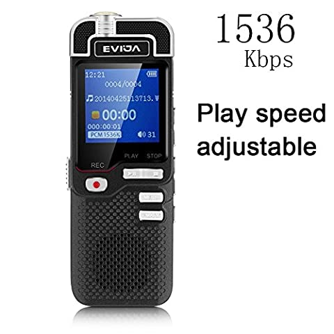 Digital Voice Recorder by EVIDA L60 1536Kbps PCM Linearity 8GB