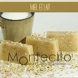 Seifenstück, handwerkliche 80g–Honig und Milch–Seife mit Olivenöl und Mandelöl Weich
