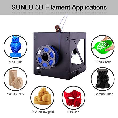 SUNLU 3D Printer Filament TPU,TPU Filament 1.75 mm,Low Odor Dimensional Accuracy 0.02 mm 3D Printing Filament,1.1LBS Spool,Blue TPU 0.5KG //