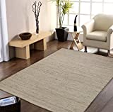 #7: Centra Home Indian Traditional Rug Collection... Handmade 100% Jute Rugs Ivory 5x8ft