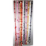 Eshoppee Set Of 10 Pcs Assorted Colors, 36 Inch, Glass Seed Beads Designer Necklace Chain For Women