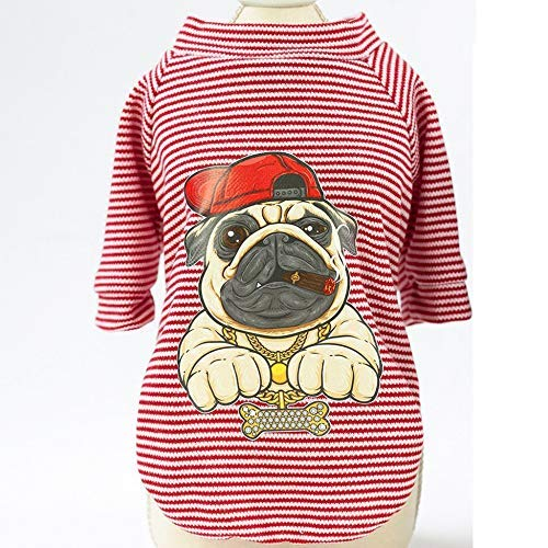 Kleidung Jumpsuit Vest Hundehemd Cartoon Haustier Sommer Kostüme Cool Captain Printed Puppy Doggy Weste Pink Bully XL Small Weiches - Cute Doggy Kostüm