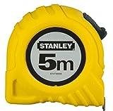 Stanley Bandmaß, 5 m, extra-starkes gebogenes Band, Polymer-Schutzschicht, Endhaken dreifach vernietet, 1-30-497